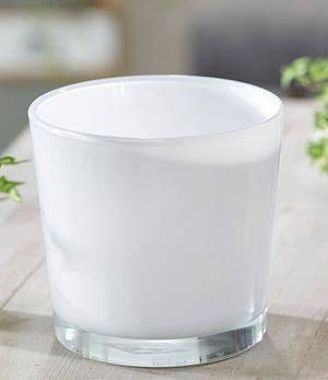 "Glas-Übertopf ø 17 cm ""weiß"", 1 Stück"