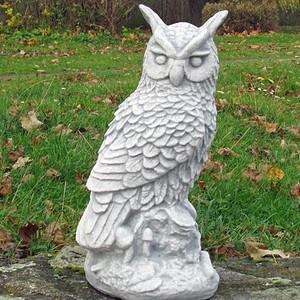 Große Eule, Uhu, Vogel, Skulptur, Garten, winterfest, Garten Deko