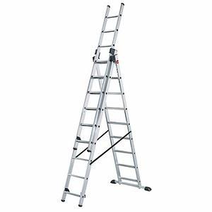 HAILO Aluminium-Kombileiter ProfiStep® combi 3 x 9 Sprossen