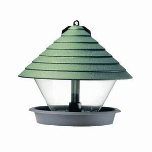 HAMMARPLAST Vogelfutterhaus grün 27cm Kunststoff, rund