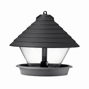 HAMMARPLAST Vogelfutterhaus schwarz 27cm Kunststoff, rund, schwarz