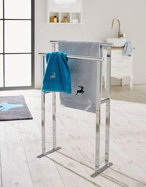 Handtuchhalter Silberfarben