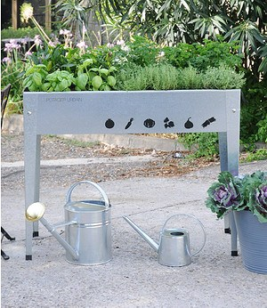 """Herstera Garden Hochbeet für Balkon & Terrasse """"Silber"""" 100x40x84 cm,1 Stück"""