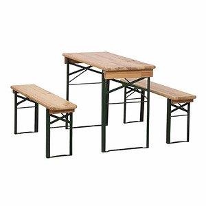 H.G. Festzeltgarnitur 110 cm ohne Rückenlehne 3-teilig, Tisch 50 cm Breite