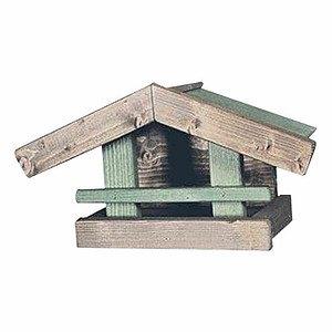 H.G-VOGEL Vogelhaus Brest zum Hängen, Farbe: grün Maße: 36x16x18cm