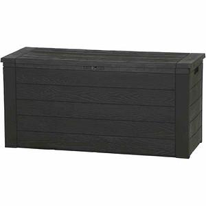 H.G.PLAST Kissenbox Woody 120 cm, braun 46x120x58 cm