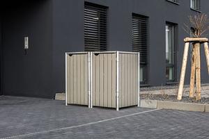 Hide Mülltonnenboxen Mülltonnenbox 240l Holz2er Box, 139,4x 80,7x 115,2 cm (BxTxH)