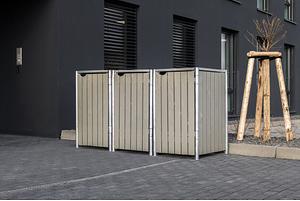 Hide Mülltonnenboxen Mülltonnenbox 240l Holz3er Box, 209,1x 80,7x 115,2 cm (BxTxH)