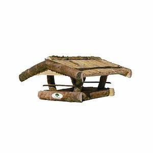 """Holz-Vogelfutterhaus """"Lerche""""aus massiver Birke oder Buche,45x50x25cm"""