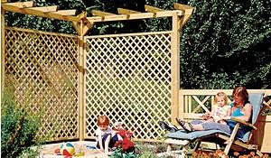 Holzpergola Bausatz mit 450 cm Länge