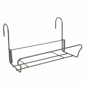 JARDIFER Universal Balkonkasten-Haltermit Sicherheitshaken 41,5x22cm, grau