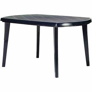 JARDIN Tisch Elise 137x90 cm, blau, oval, Vollkunststoff