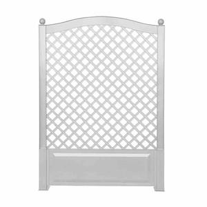 KHW Spalier mit Erdspieß 100x140x6cm, weiß