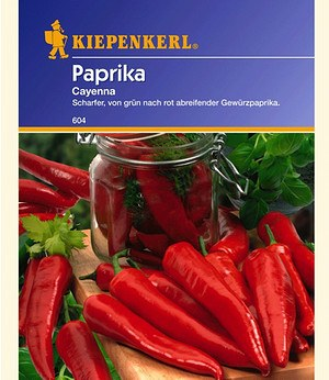"Kiepenkerl Paprika ""Cayenna"",1 Portion"