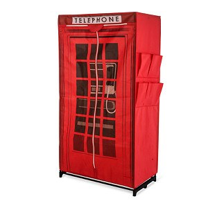 "Kleiderschrank ""Telephone"" Rot"