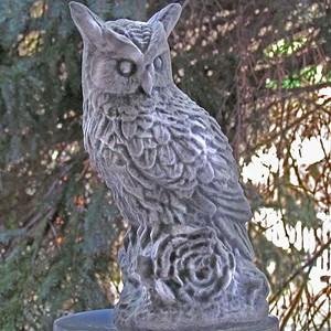 Kleine Eule, Uhu, Vogel, Skulptur, Garten, winterfest, Garten Deko