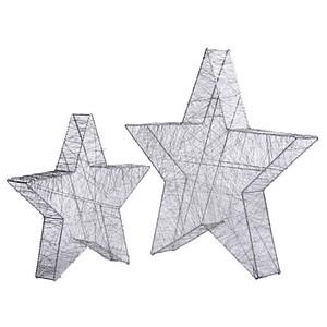 LED-Deko-Objekt Sternengeflecht klein