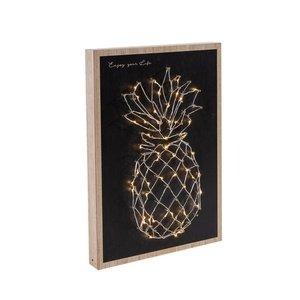 LED-Wanddeko Ananas