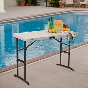 Lifetime Kunststoff Tisch höhenverstellbar, 122x 61x 61-86 cm (BxTxH)
