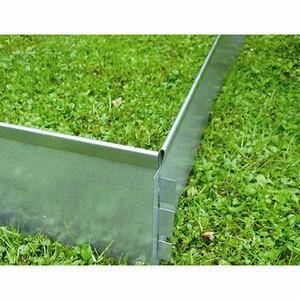LUNA Rasenkante verzinkt, Maße: 100x15cm aus biegsamen Metallblech