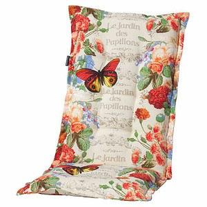 MADISON Auflage für Sessel hoch, Malta red, 75% Baumwolle 25% Polyester