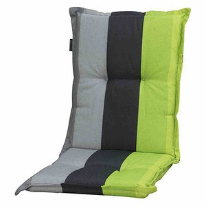 MADISON Auflage für Sessel niedrig, Lars lime, 75% Baumwolle / 25% Polyester