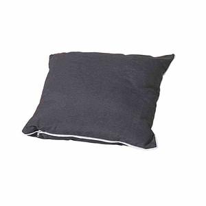 MADISON Zierkissen 45x45 cm, Panama grau, 75% Baumwolle 25% Polyester