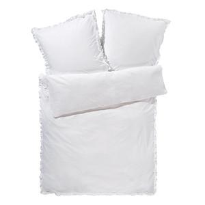 miaVILLA Bettwäsche Rüschen Weiß 135 x 200 cm