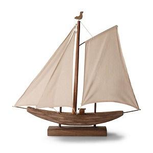 miaVILLA Tischleuchte Segelboot Braun