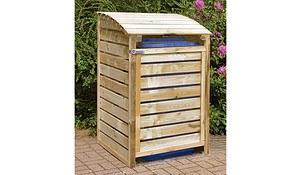 Mülltonnenbox aus Holz, 1er für Mülltonnen bis 240 Liter