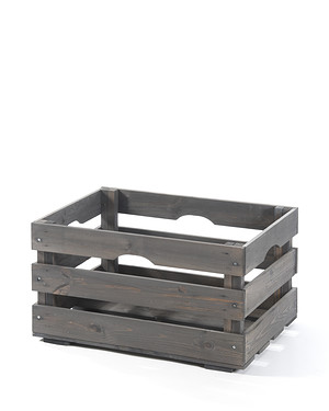 myGardenlust Deko-Obstkiste 54x35x29 cm anthrazit