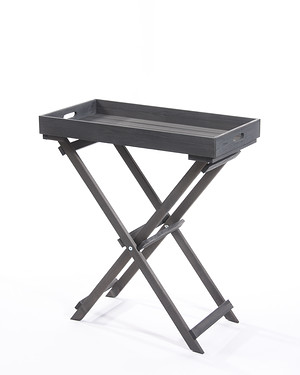 myGardenlust Tablett-Tisch anthrazit 30x70cm Tablett abnehmbar