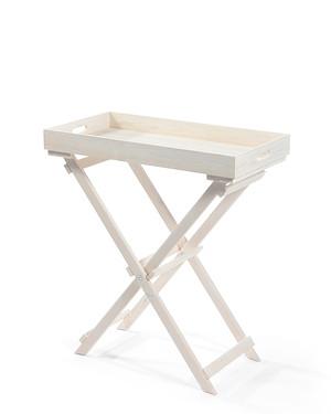 myGardenlust Tablett-Tisch weiß 30x70cm Tablett abnehmbar