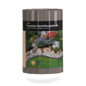 NOOR Gestaltungskante Premium taupe 20 cm x 6 lfm