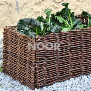 NOOR Hochbeet Weide 100x40x40cm + Pflanztasche