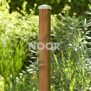NOOR Zaunpfosten Vierkantpfosten Kiefer braun 7x7cm
