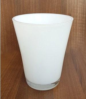 """Orchideen Glas-Übertopf """"hoch, weiß"""", 1 Stück"""