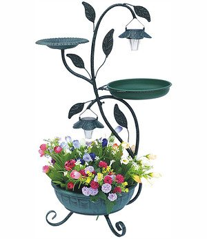 Pflanzenständer mit Solar-Beleuchtung,1 Stück
