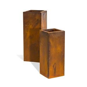 Pflanzsäulen-Set, 2-tlg. Corrido Rost