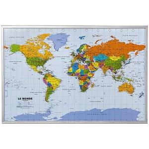 Pinnwand Welt in französischer Sprache