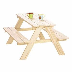 PINOLINO Kindersitzgruppe Nicki, Fichtenholz, unbehandelt, für 4 Kinder, 90x85x