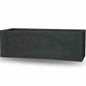 PP-PLASTIC Cube box schwarz-granit, betonlook, 790x290x275mm