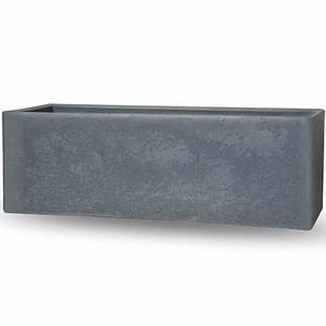 PP-PLASTIC Cube box zement-grau, betonlook, 790x290x275mm
