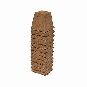 ROMBERG Anzuchttöpfe 8cm eckig, 12 Stück im Paket, 12 Stück