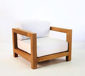 Sessel Eiche Modern mit Kissen