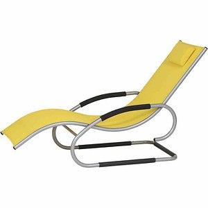 SIENA GARDEN Adria Swing Liege silber/gelb, Aluminium silber / Bezug gelb