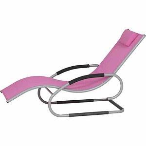 SIENA GARDEN Adria Swing Liege silber/pink, Aluminium silber / Bezug pink