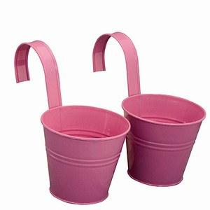 siena garden blumentopf 2er set stahlblech pink inklusive halter 16x14 5cm g nstig online. Black Bedroom Furniture Sets. Home Design Ideas