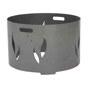 SIENA GARDEN Feuerschalenaufsatz, Stahl silber, passend Feuerschale XXL Ø55cm