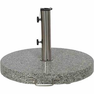 SIENA GARDEN Granitständer 40 kg, grau, rund mit Griff und Rollen